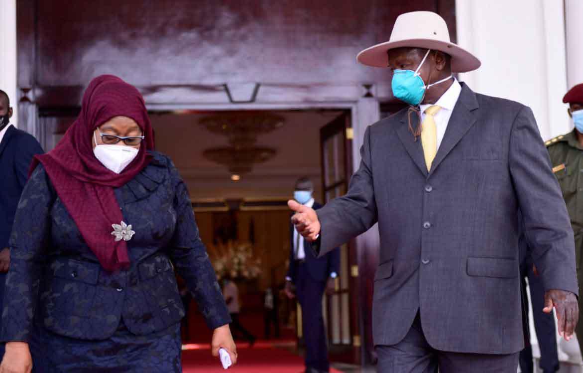 Samia Solo es su primera visita como presidenta de Tanzania y está de visita en Uganda. [Photos]