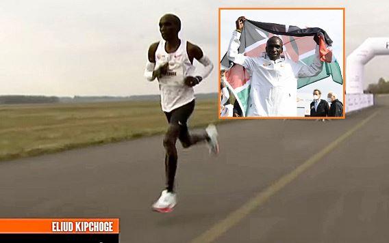 Eliud Kipchoge wins the NN Mission Marathon