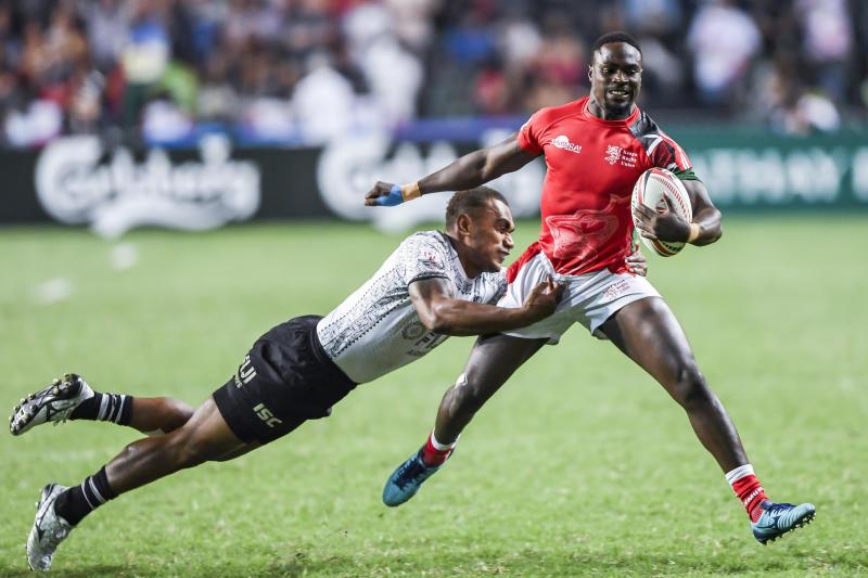 Oyoo bags brace as Kenya edge Uganda at Rugby Africa 7s