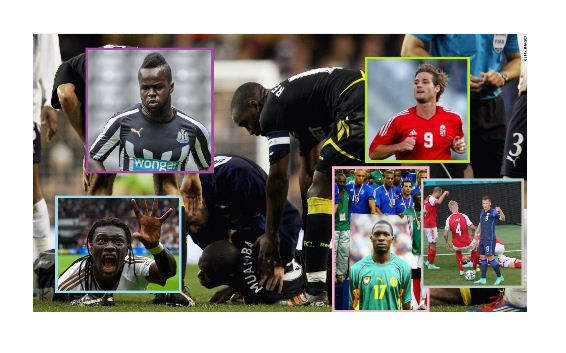 PHOTOS: Players who have collapsed on the pitch