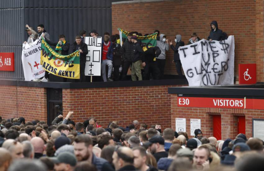 Protesting Man United fans break into Old Trafford