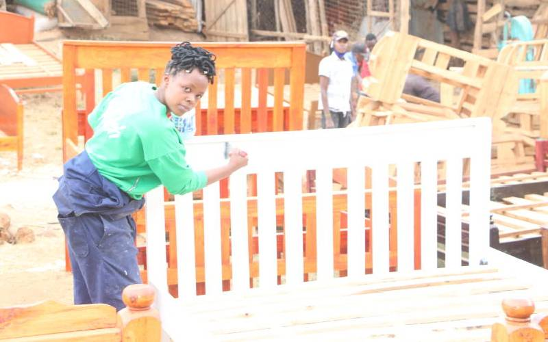 'Queen of carpentry' living off her passion