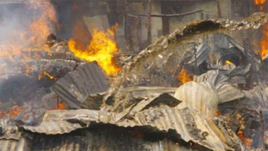 Property destroyed as huge fire engulfs Gikomba market, Nairobi ...