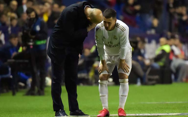 Real's Eden Hazard at risk for City clash after latest injury