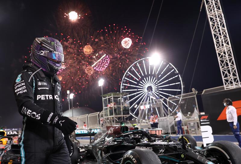 Seven-times Formula One world champion Lewis Hamilton wins again