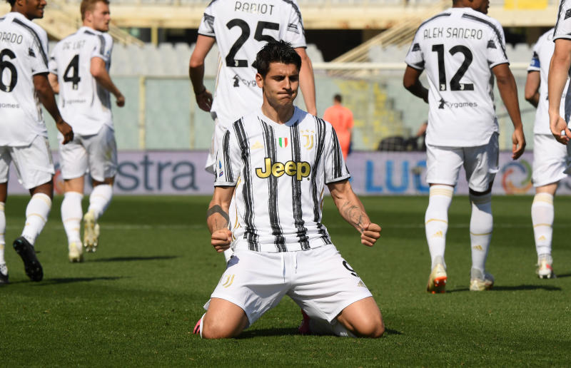 Sub Morata rescues draw for Juventus at Fiorentina