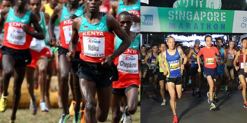 Clean 1-2-3-4-5-6-7-8-9-10-11-12-13-14-15-16-17 sweep for Kenya at Singapore Marathon