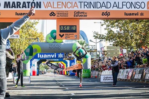 Kenya's Abraham Kiptum breaks world half marathon record in Valencia