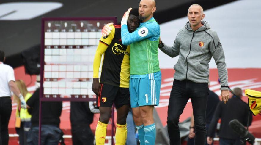 Watford relegated after battling loss at Arsenal