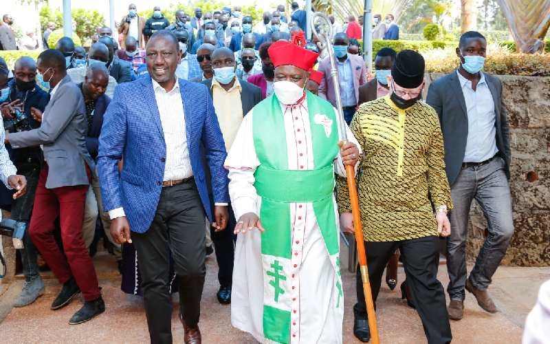 What pulpit ban? DP Ruto addresses Kiambu church, donates Sh2m