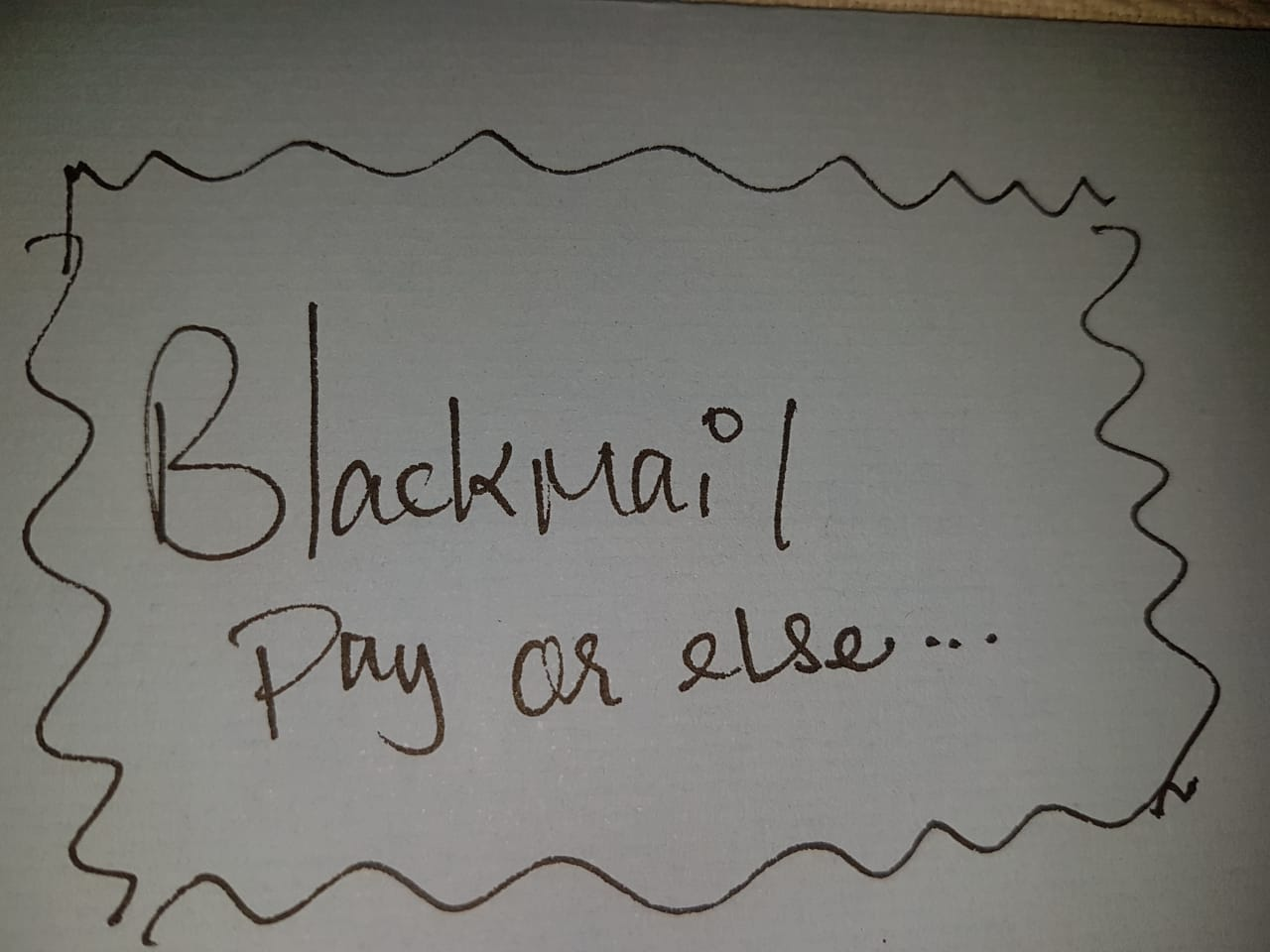 Why is it that we say Blackmail, Black Friday and Black Death?