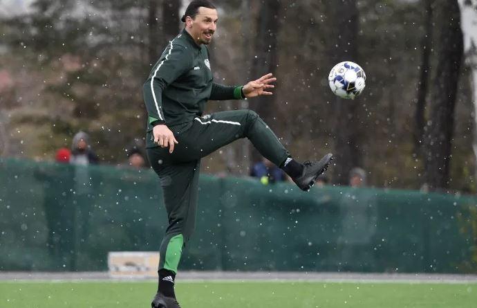 'Zlatan fever' hits Hammarby as striker trains with club again