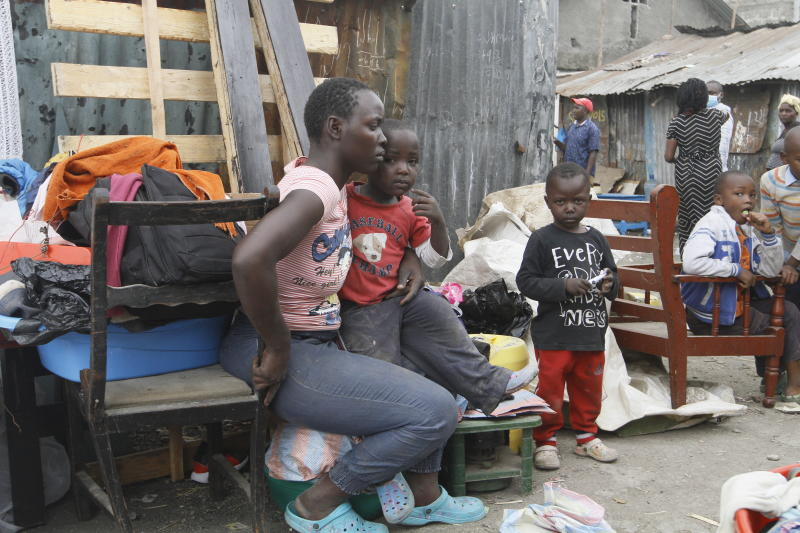 Agony as Nairobi slum houses brought down to pave way for link roads