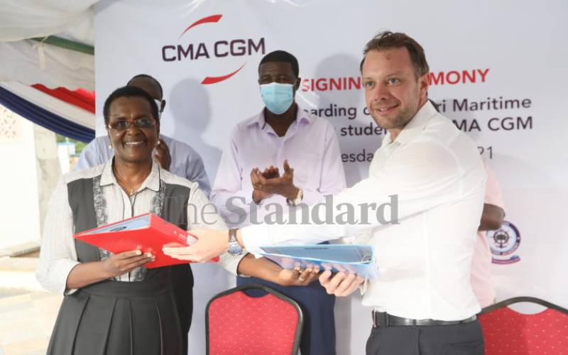 Bandari Maritime Academy inks training deal with leading French liner