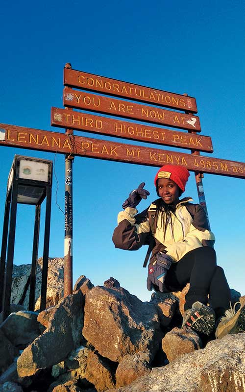 I pooped on Mt Kenya