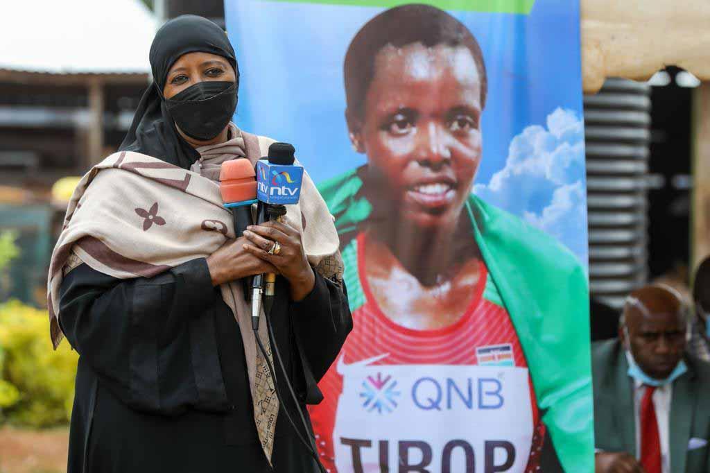 CS Amina consoles late athlete Agnes Tirop's family in Nandi