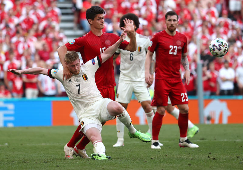 De Bruyne leads Belgium to comeback win over Denmark