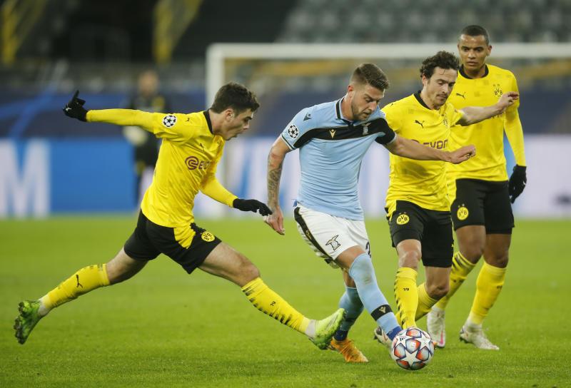 Dortmund overcome Haaland absence to draw with Lazio 1-1