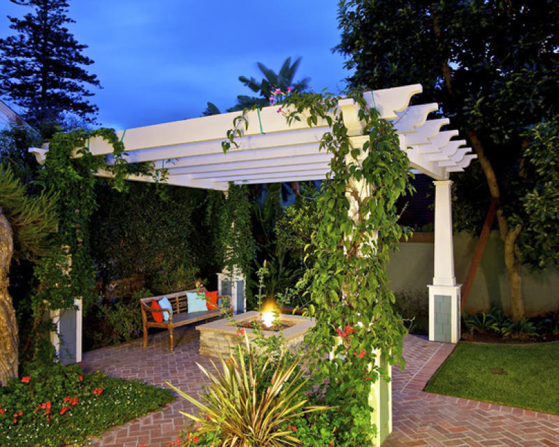 Pergola with appropriate climbing makes a great and beutiful shade.
