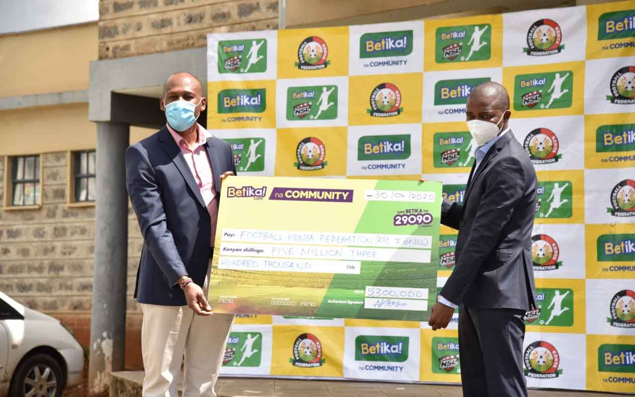 FKF, Betika unveil Sh5.2 million package for KPL, NSL clubs in wake of Covid-19 pandemic