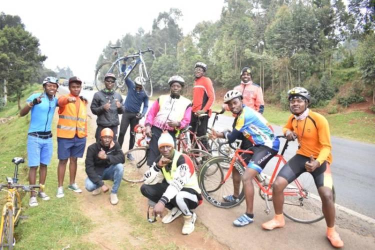 Forget Subaru drivers, these comrades are cycling down to Naivasha