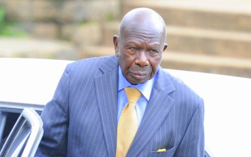 Former VP Awori wins back late kin's 30-acre land from trespasser