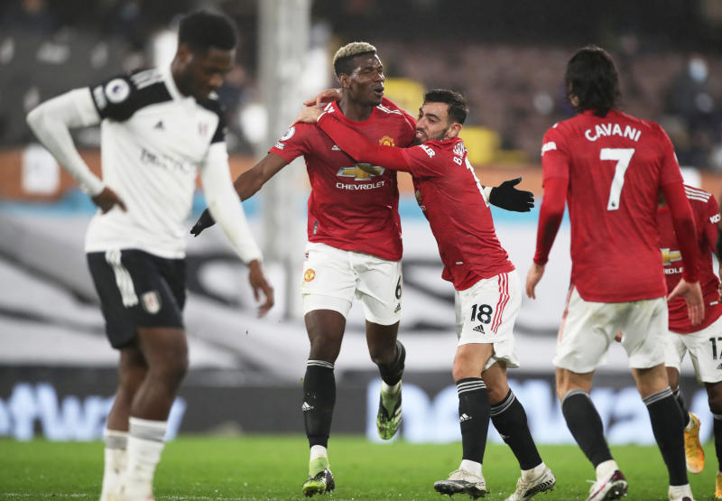 Fulham 1-2 Man United: Pogba sends Red Devils back to top spot