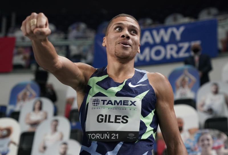 Giles races to second-fastest indoor 800m as Chepkoech is beaten in Torun