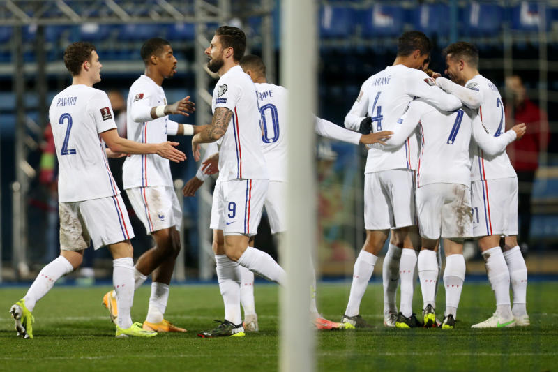 Griezmann shines again as France labour to win in Bosnia
