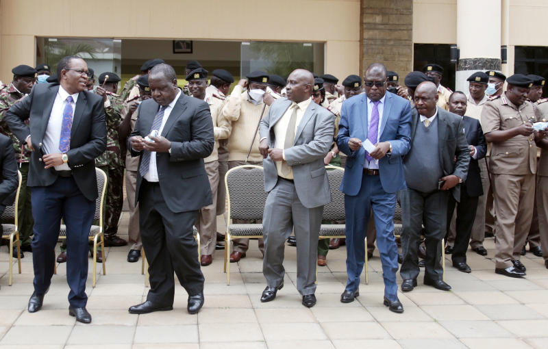 Help us end illicit brews or quit, CS Fred Matiang'i tells chiefs