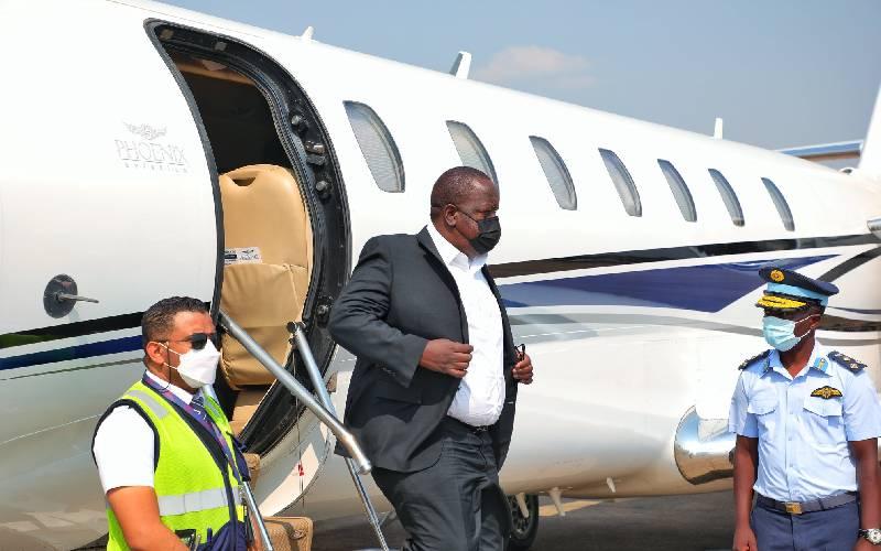 Interior CS Matiang'i flies to Zambia to deliver Uhuru message