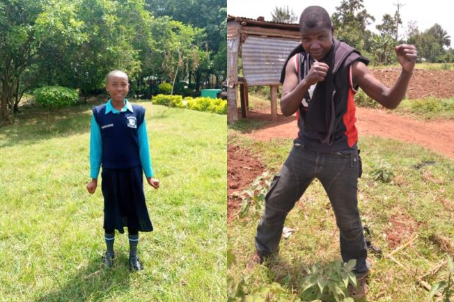Kenyan boxer Conjestina inspired top KCPE student Faith Mumo