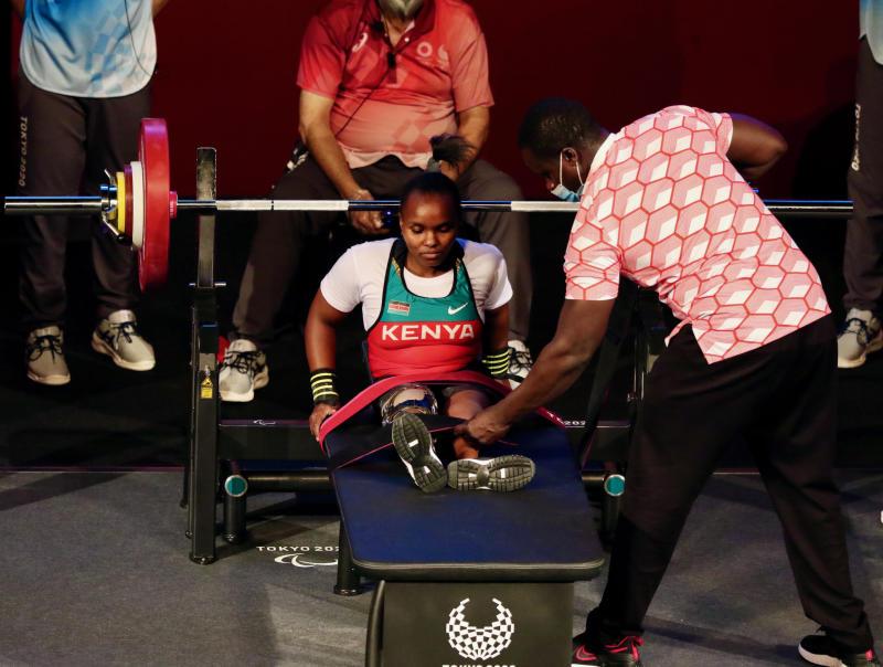 Kenya's Hellen Wawira finishes fifth in women's 41 kg para powerlifting