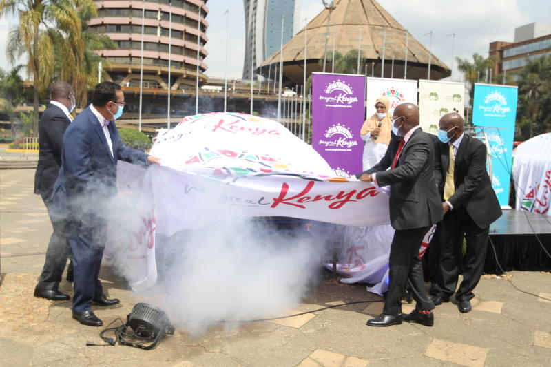 KTB unveils Magical Kenya branded rally cars
