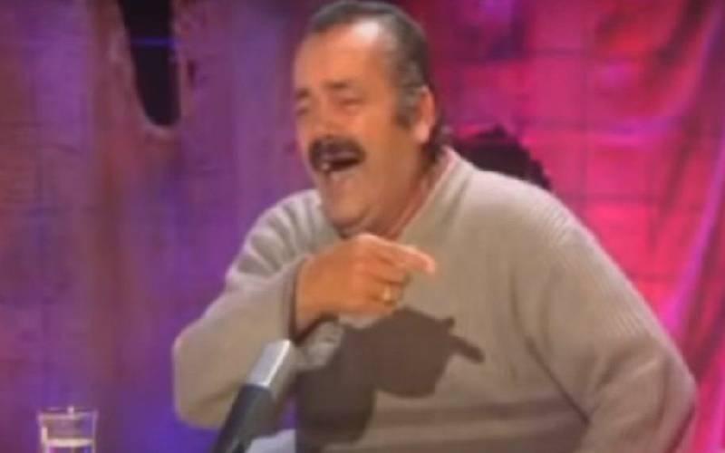 Last laugh: Spanish man in laughing meme dies aged 65