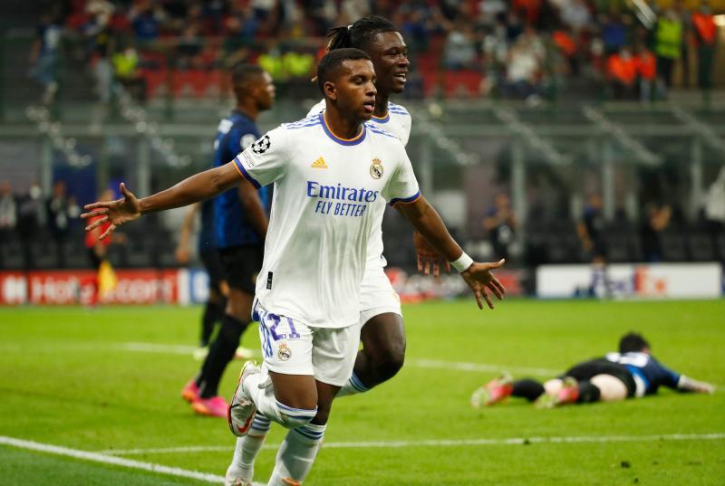 Late Rodrygo strike earns Real Madrid win at Inter