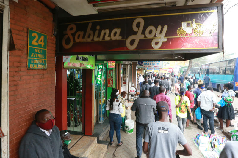 Hundreds of starved Nairobi men flock daily to Sabina Joy  to test waters