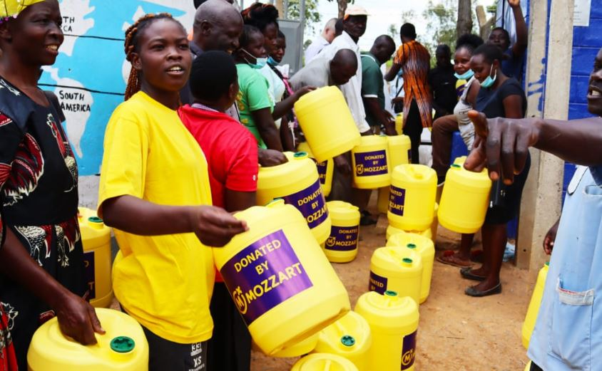 Mozzart provides clean water to people of Lurambi in Kakamega
