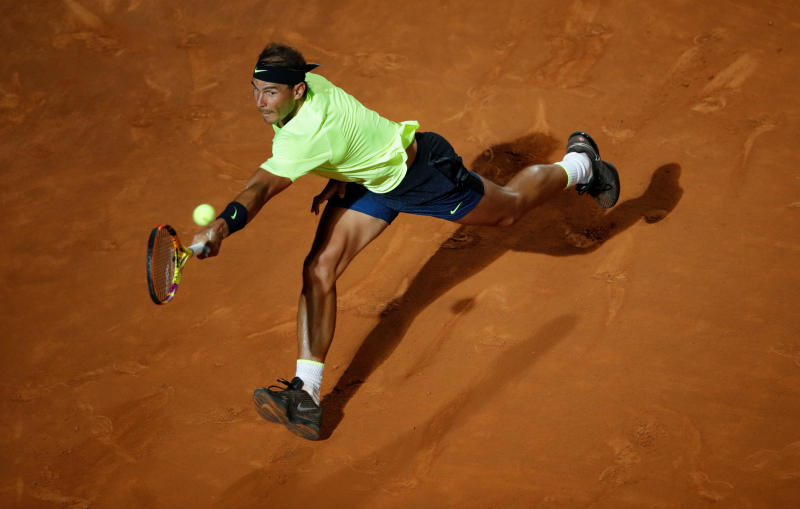 Nadal makes fast start in Rome, Tsitsipas out