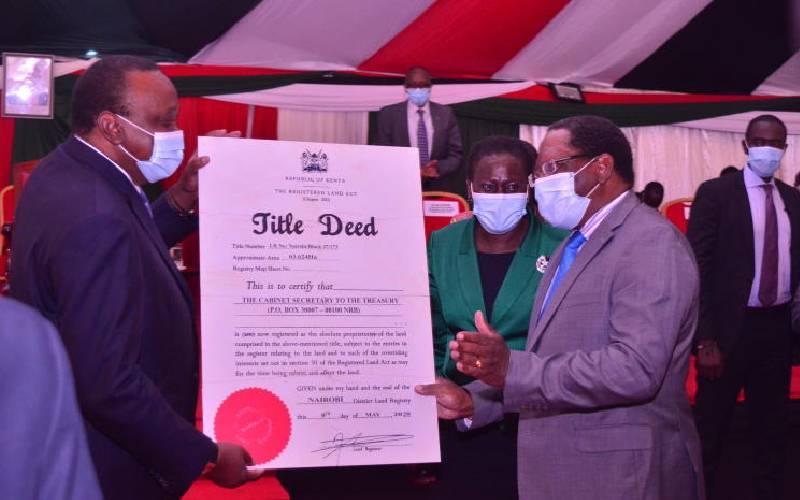 Nairobi public open spaces to get title deeds to avert grabbing