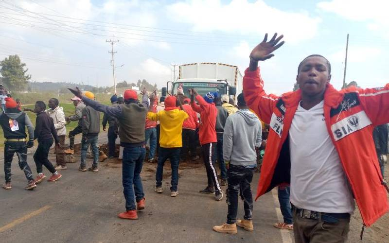 Naivasha residents protest frequent road accidents