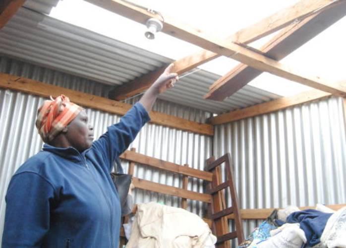 Family left homeless, roofless over rent arrears