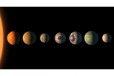 NASA discovers seven Earth-size planets where life is possible