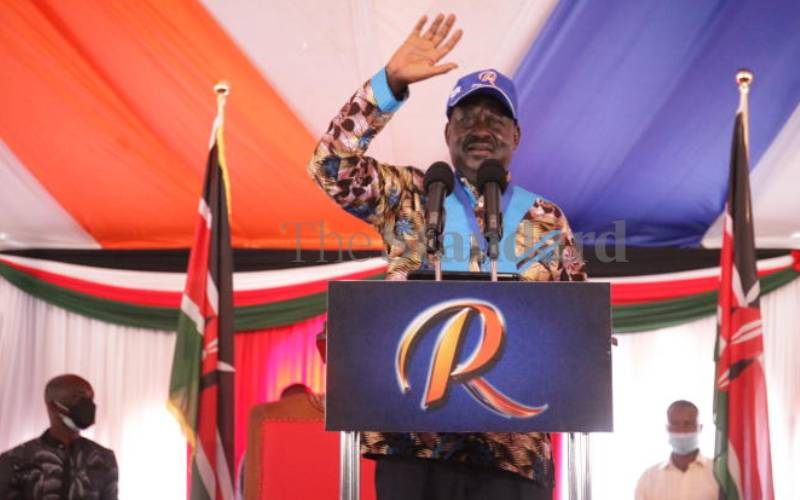 Nyanza leaders endorse ODM boss for presidency