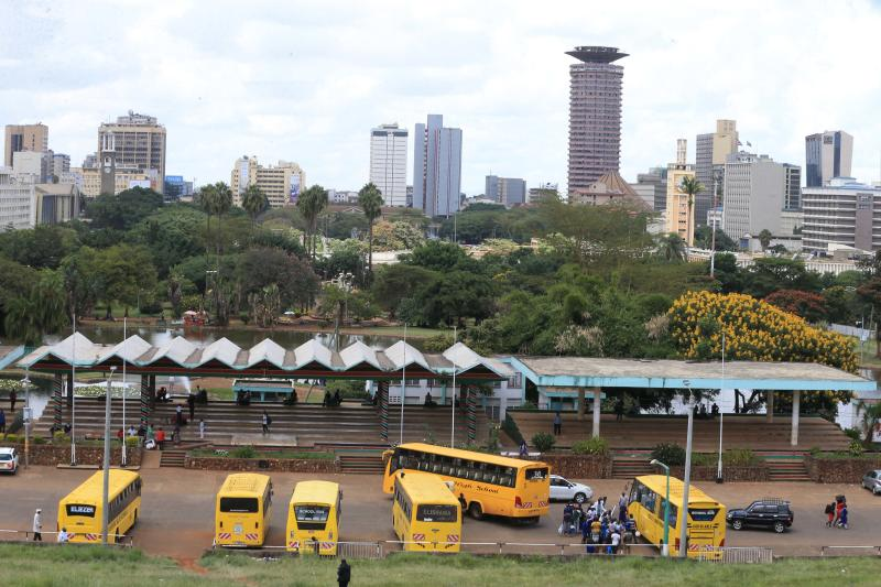 School buses at Uhuru Park in Nairobi after dropping students from various destination following Government's directive to close all learning Institutions after the outbreak of coronavirus (Photo: St