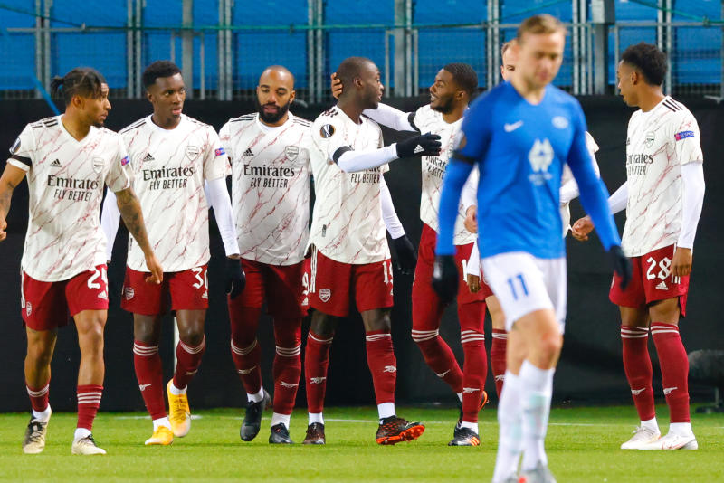 Pepe redeems himself as Arsenal ease to win 3-0 at Molde