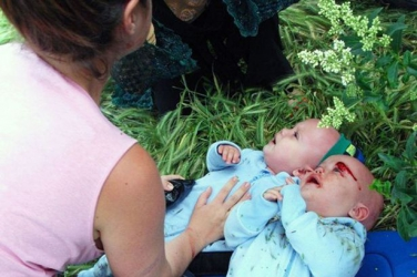 Baby twins run over by 'drunk driver 10 times over limit' miraculously survive