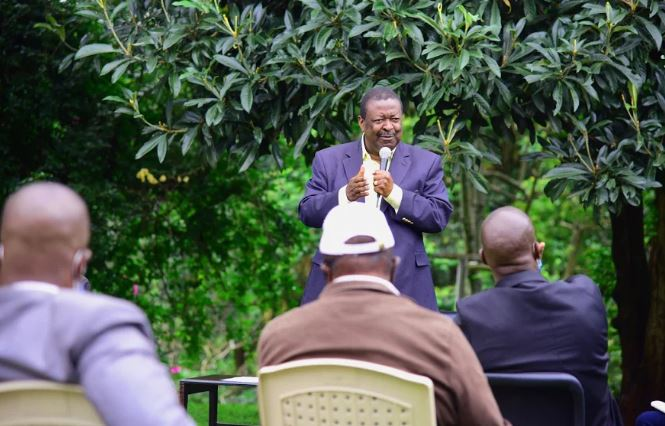 PHOTOS: AFC Leopards legends meet ANC leader Mudavadi