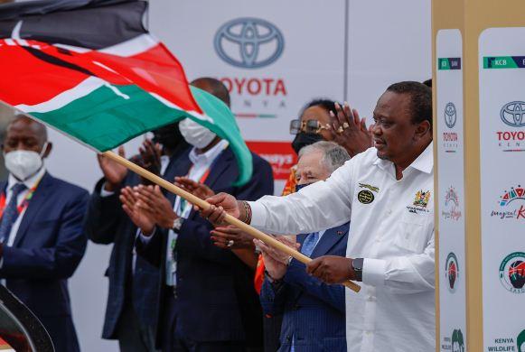 PHOTOS: President Uhuru Kenyatta flags off WRC Safari Rally at KICC