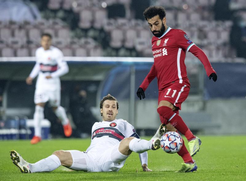Salah sets club record as Liverpool held at Midtjylland